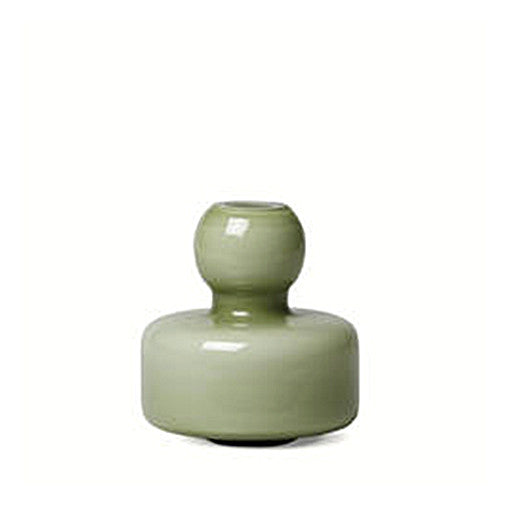 Marimekko Glass Flower Vase Olive Green