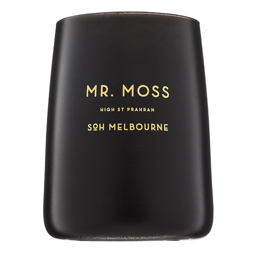 SOH Candle in Black Glass Mr.Moss