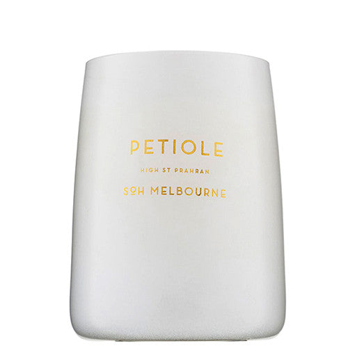SOH Candle in White Glass Petiole
