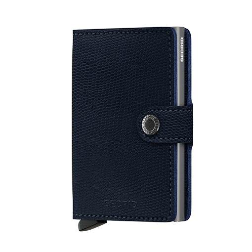 Secrid Miniwallet Rango Blue-Titanium Leather