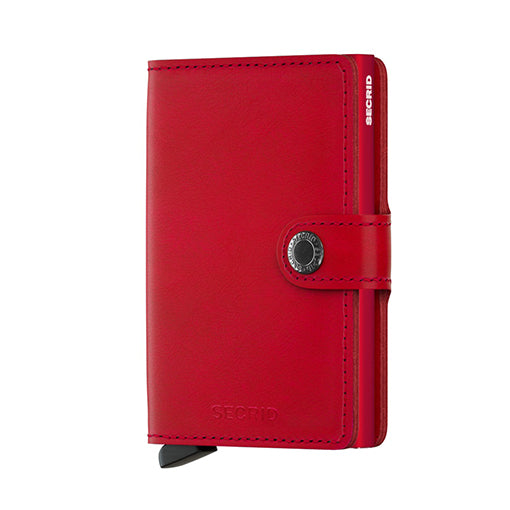 Secrid Miniwallet Original Red Leather