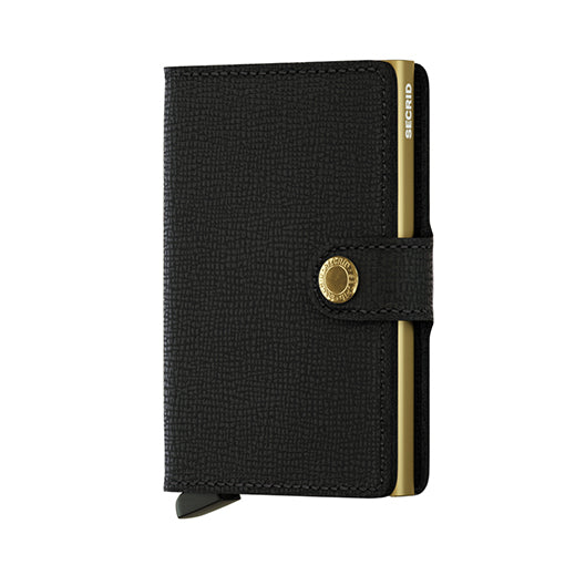 Secrid Miniwallet Crisple Black Leather & Gold