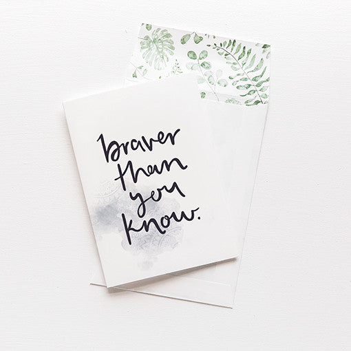 emma kate co Card - Braver Than You Know
