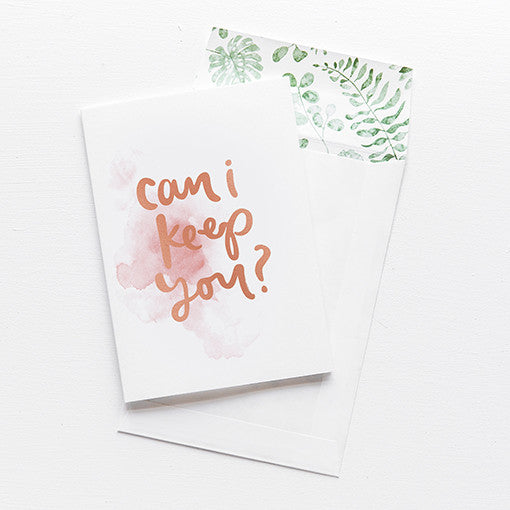 emma kate co Card - Can I Keep You