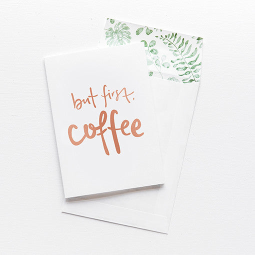 emma kate co Card - But First Coffee