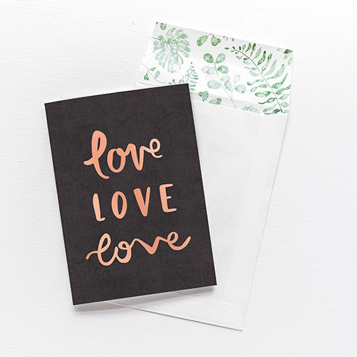 emma kate co Card - Love Love Love