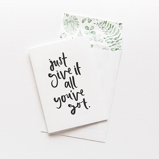emma kate co Card - Give It All You've Got