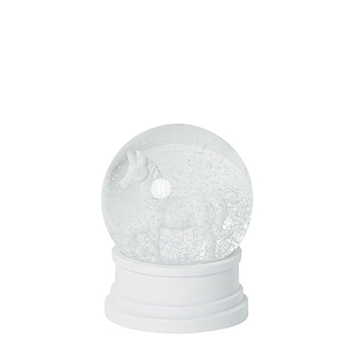 Papaya Gabriel Snow Dome with White Unicorn 14cm