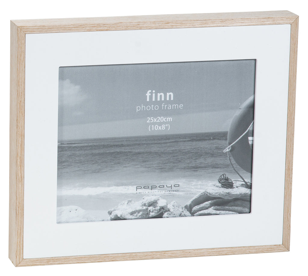 Papaya Finn Wide Frame White [8x10]