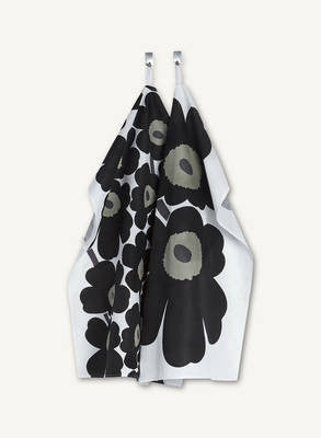 Marimekko Tea Towel Set of 2 Unikko Black