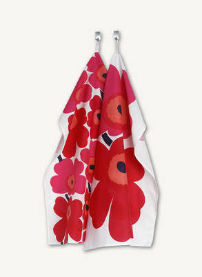 Marimekko Tea Towel Set of 2 Unikko Red