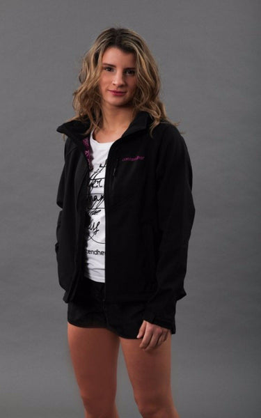 Softshell Womens Rain Jacket - Black