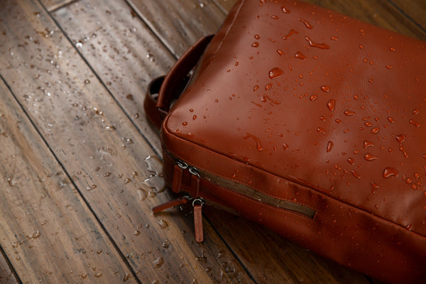 Waterproof Leather Backpack