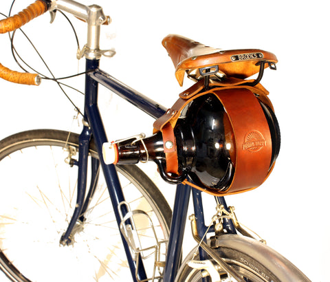 Glass Flip Top Growler Bicycle Carrier
