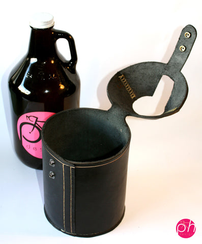 Leather Growler Cover/Carrier