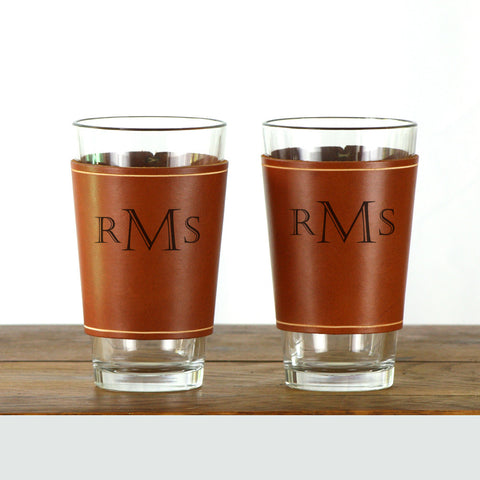 Leather Pint Glass Sleeve - 2 pack