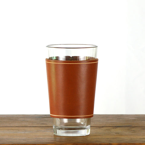 Leather Pint Glass Sleeve