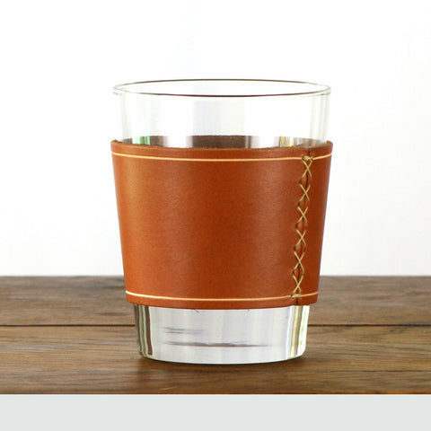 Leather Whiskey Glass Sleeve