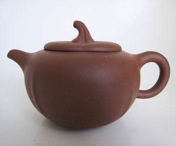 Teaware - Zi Sha Purple Clay Pumpkin Shape Teapot