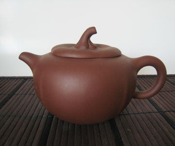 Teapot - Zi Sha Purple Clay Pumpkin Shape Teapot