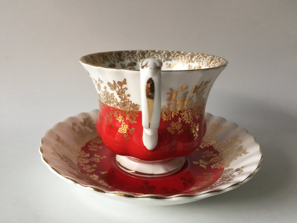 Porcelain - Royal Albert Regal Series 4396 Red Cup Saucer