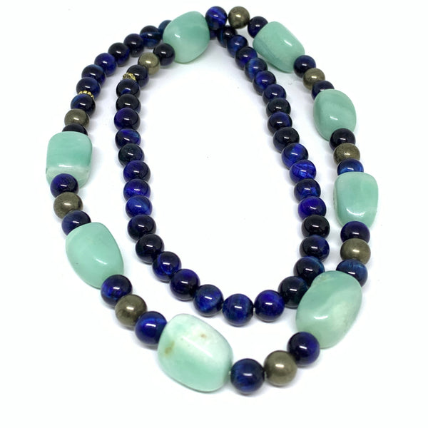 Aurafosa Tanzanite Blue Tiger's Eye Necklace