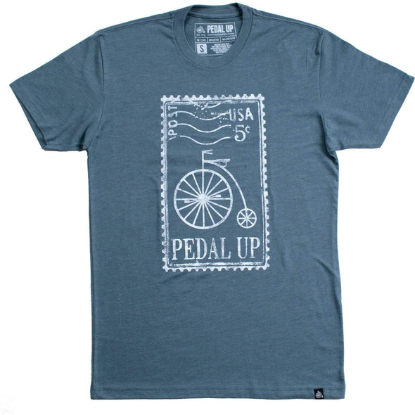 Vintage Stamp T-shirt - Pedal Up Apparel