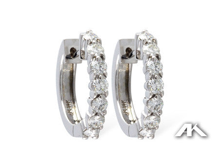 EARRINGS 1.00 CT TW