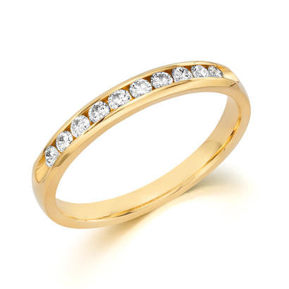 14k Yellow Gold Anniversary Band 510100041