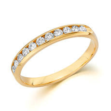 14k Yellow Gold Anniversary Band 510100141