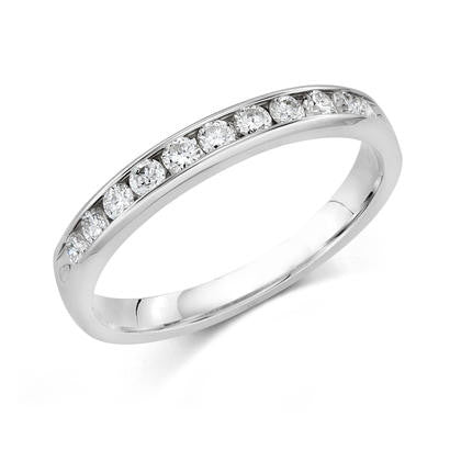 14k White Gold Anniversary Band 510100042