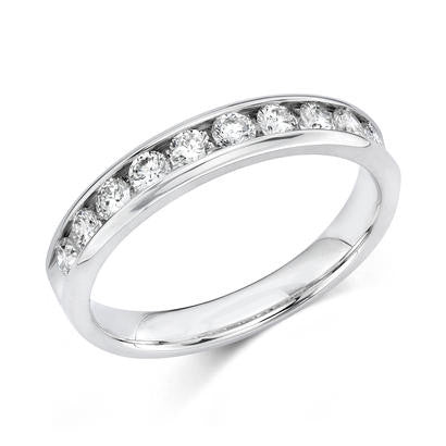 14k White Gold Anniversary Band 510100242