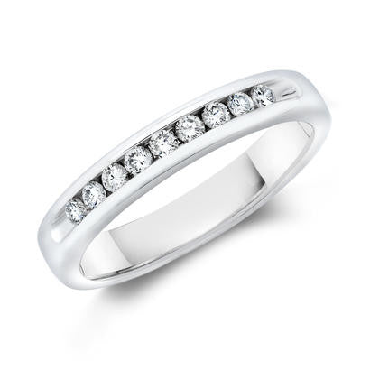 14k White Gold Anniversary Band 517092742