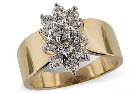 D4602Y 14k Yellow Gold Diamond Ring