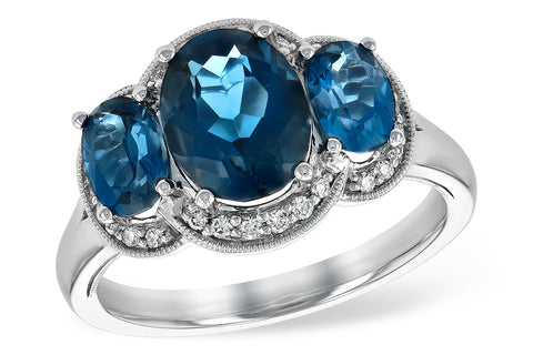 RD5685-W  14k White gold fashion ring London Blue Topaz