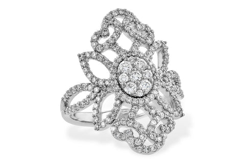 D5707W 14k White Gold Diamond Ring