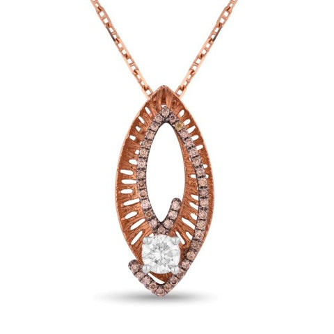 PDN3566 Rose Gold and diamond pendant