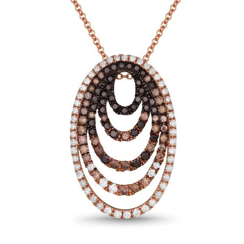PDN4249 14k Rose Gold Diamond Pendant