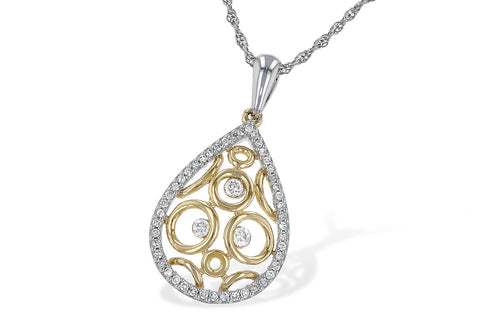 N7375TR 14k Two Tone Gold and Diamond Pendant