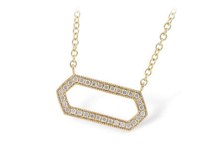 N7825Y Yellow Gold and Diamond Pendant