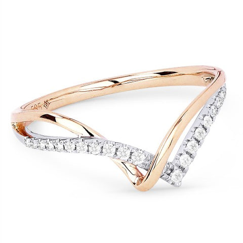 R1368WP 14k Rose Gold Ring