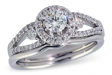 S8119W 14k W/G Wedding Set