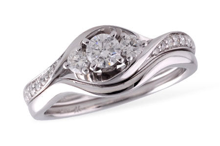 S8181W 14k White Gold and Diamond Engagement Ring
