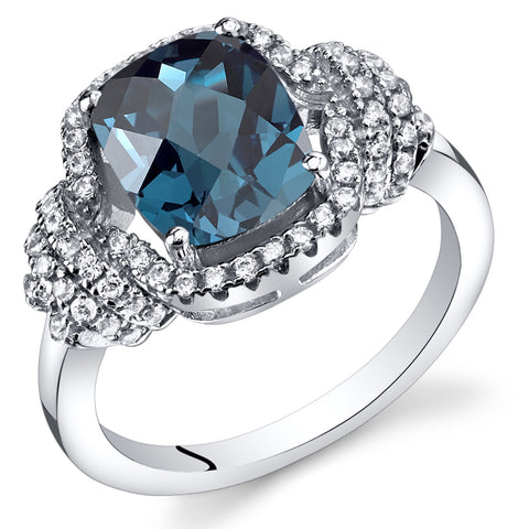RSR11412 Created London Blue Topaz Ring