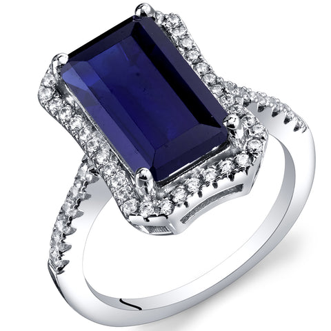 RSR11426 Lab Created Sapphire Ring