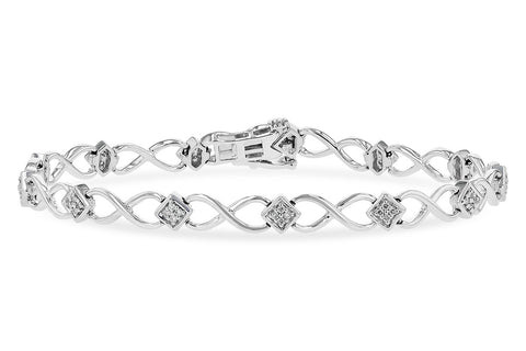 B1246 14k White Gold Diamond Bracelet