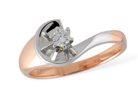 D5357 14k White and Rose Gold Diamond Ring