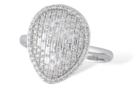 14k White Gold and Diamond Fashion Ring D5581