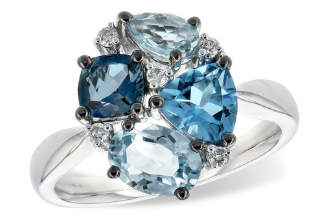 d5615 London, Swiss, and Sky Blue Topaz, and diamond ring.