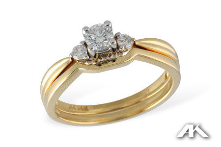 14k Yellow Gold Wedding Set S7969